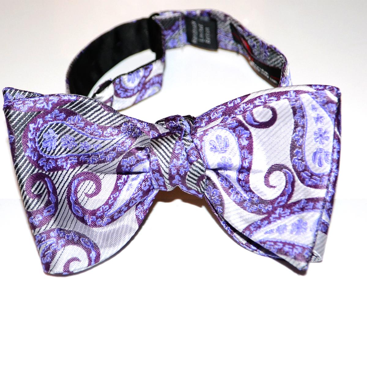 Purple Paisley Suit Mens Purple Paisley Bow Tie