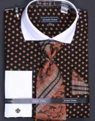 Avanti-DN47M-Shirt-Blk:TaupePolkadot