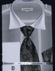 Men's black vertical striped shirt