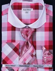 DanielEllissa-DS3763P2-Shirt-Checkered-Fuchsia