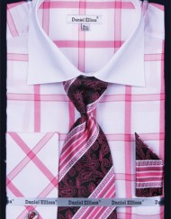 Mens fuchsia french cuff shirt
