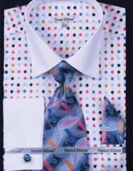 Polka dot apparel fabric shirt