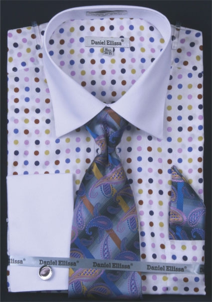 Mens lilac polka dot dress shirt for Mens lilac dress shirt