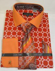 Orange french cuff shirt