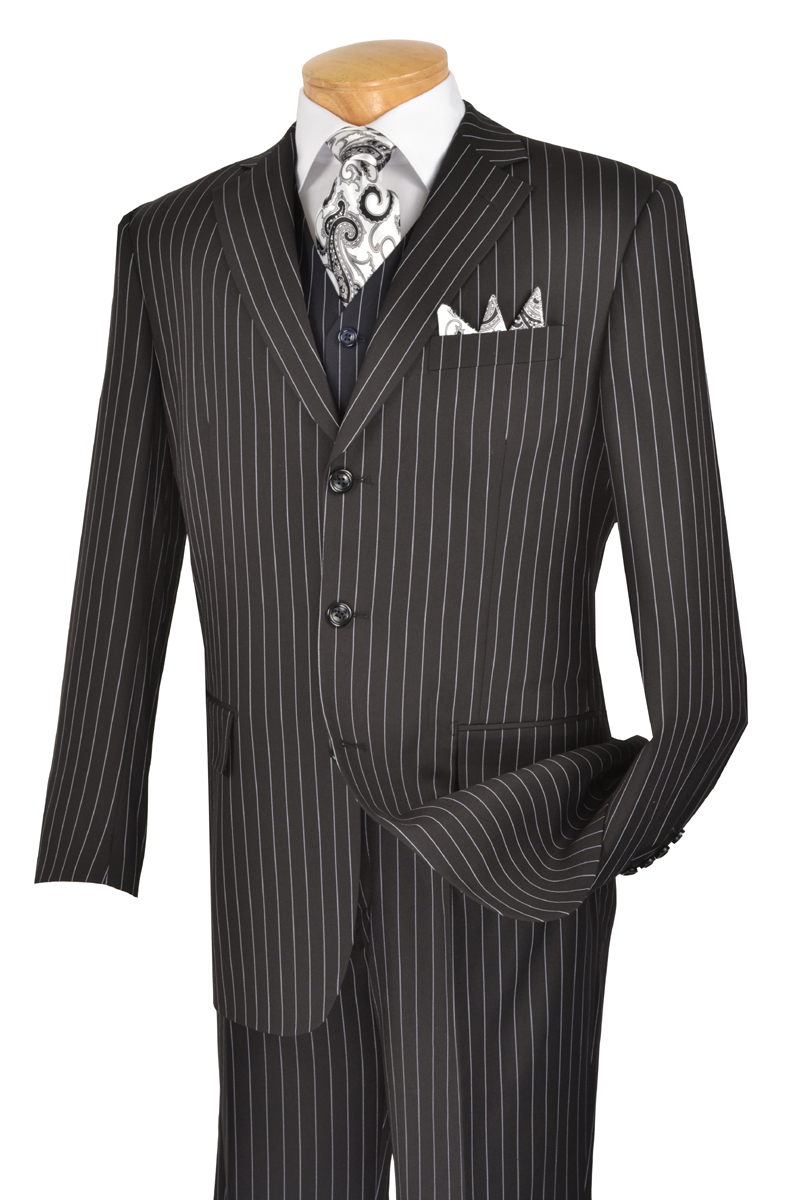 women hoard as a rare commodity boy Mens 3 Piece Brown Pinstripe suit - VinciS-SUV3RS-8