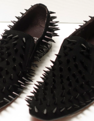 Black spiked shoes