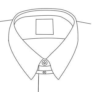 Which types of collars are appropriate for a man 39 s attire for Snap tab collar shirt