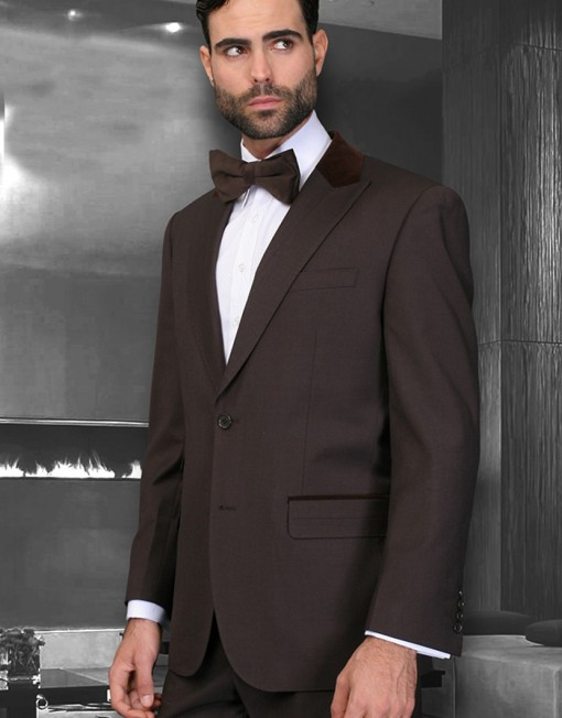 Chocolate Brown suit modern fit