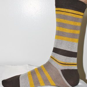 Brown striped socks