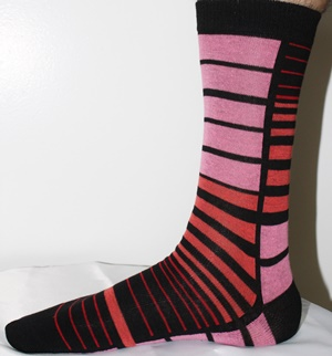 Mens pink dress socks
