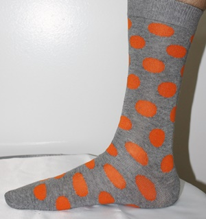Orange polka dot socks