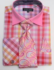 pink gingham dress shirt