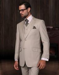 mens beige 3 piece suit