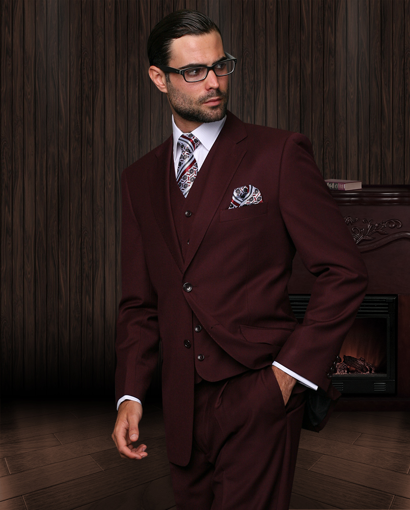 Mens burgundy suit for sale