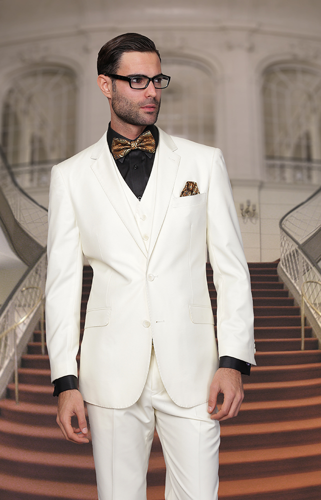 Mens off white suit