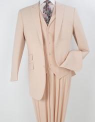 Three piece peach suit
