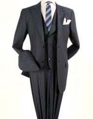 Navy Blue Plaid suit