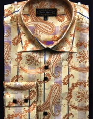 Mens gold dress shirt