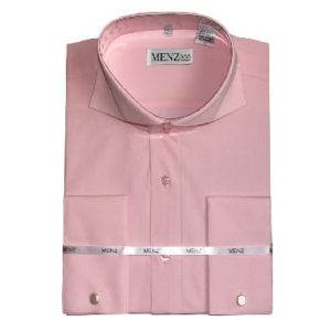 Pink cutaway collar shirt