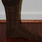 brown patterned dress socks