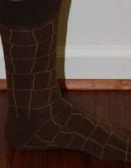 brown patterned dress socks