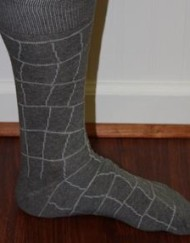 Gray patterned dress socks