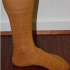 rust patterned socks
