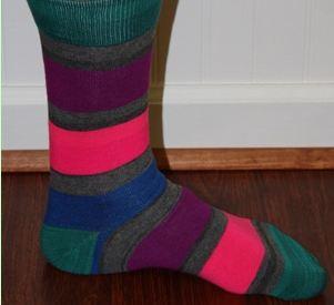men's striped dress socks