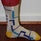 Tan patterned socks
