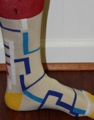 Tan patterned socks