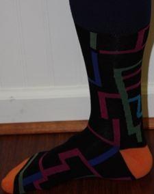 Black patterned socks