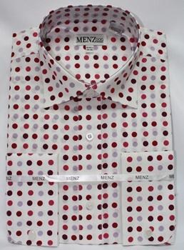 Lavender polka dot shirt
