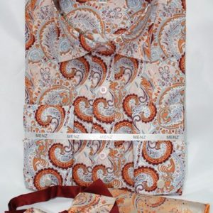 mens brown paisley shirt
