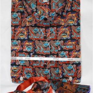 mens rust paisley dress shirt