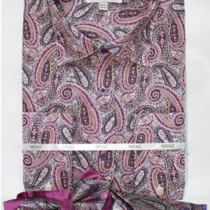 Mens lavender paisley dress shirt