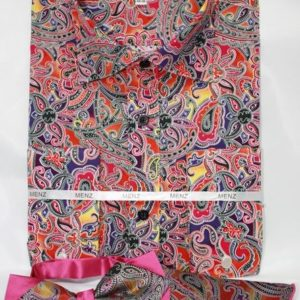mens pink paisley dress shirt