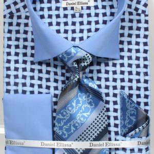 Men's blue patterned shirt
