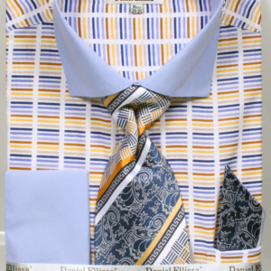 Mens blue horizontal striped shirt