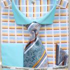 mens turquoise horizontal striped shirt