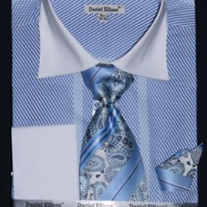 Mens Blue vertical striped shirt