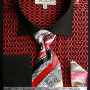 Mens black and red dress shirt