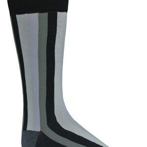 Mens black striped dress socks