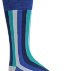 mens blue striped dress socks