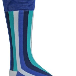 mens blue striped dress socks