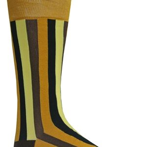 Mens mustard striped socks