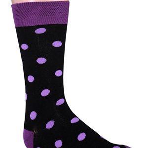 Purple polka dot socks
