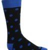 Mens black and blue polka dot socks