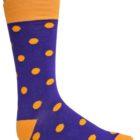 purple orange dress socks