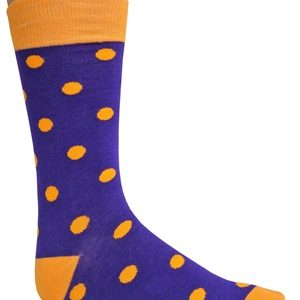 purple orange dress socks